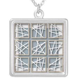 Criss Cross Pattern on Baby Blue Necklace