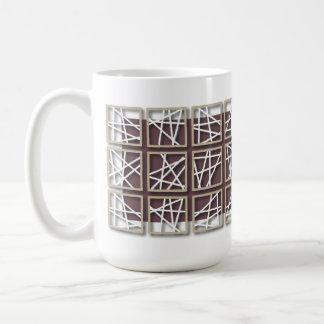 Criss Cross Pattern Purple Mug