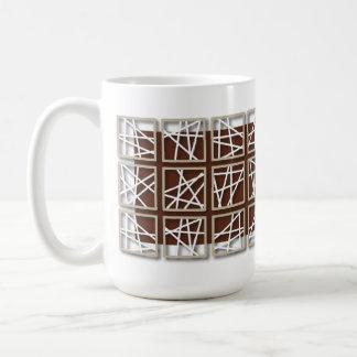 Criss Cross Pattern Reddish Mug