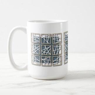 Criss Cross Pattern Small Square Blue Mug