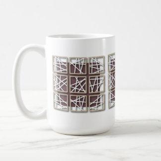 Criss Cross Pattern Small Square Purple Mug