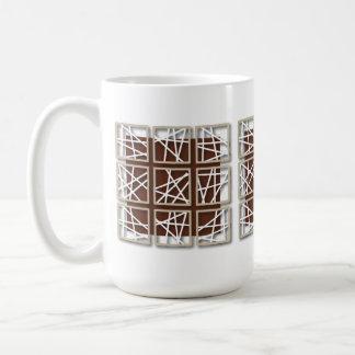 Criss Cross Pattern Small Square Reddish Mug