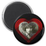 Criss Cross Perfect Heart Template Fridge Magnets