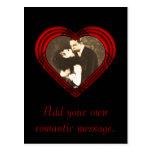 Criss Cross Perfect Heart Template Post Card