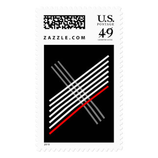 Criss Cross Postage Stamp
