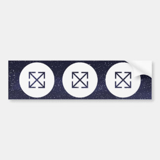 Criss Crosses Pictogram Car Bumper Sticker