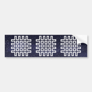 Criss Nets Minimal Car Bumper Sticker