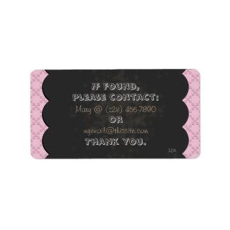 CrissCross Blackboard Chalk Pick Color/Lost Found Label