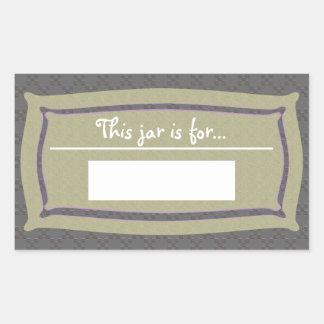 CrissCross Texture U Pick Color/Food Storage Label Rectangular Sticker