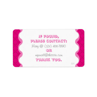 CrissCross U Pick Color/Lost Found Personal Item Label