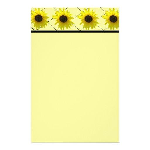 CrissCrossed Sunflower Stationery
