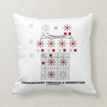 Crisscrossed Through A Generation (Punnett Square) Throw Pillow