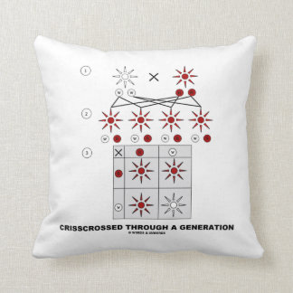 Crisscrossed Through A Generation (Punnett Square) Pillow