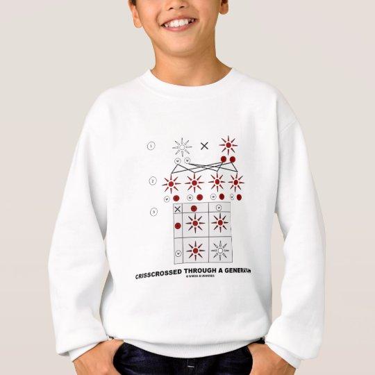 Crisscrossed Through A Generation (Punnett Square) Sweatshirt