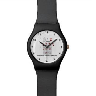 Crisscrossed Through A Generation (Punnett Square) Wrist Watch