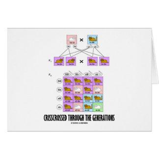 Crisscrossed Through The Generations (Cat Punnett) Greeting Card