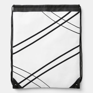 Crissed and Crossed Drawstring Bag