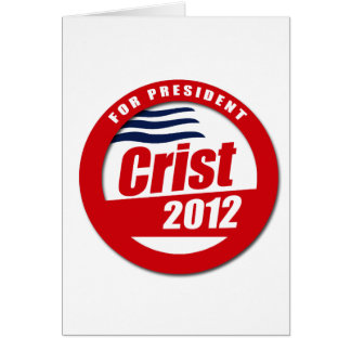 Crist 2012 Button Card