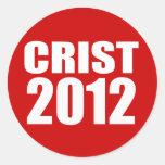 CRIST 2012 PEGATINAS REDONDAS