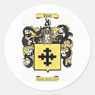 crist classic round sticker