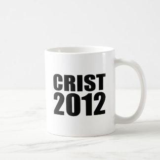 Crist en 2012 taza básica blanca