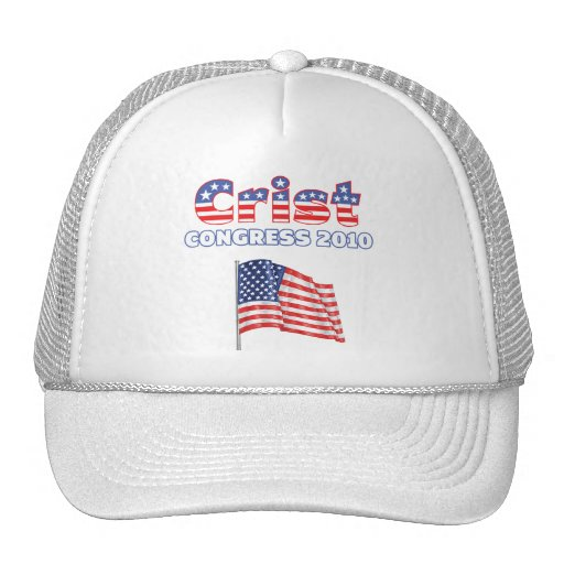 Crist Patriotic American Flag 2010 Elections Trucker Hat