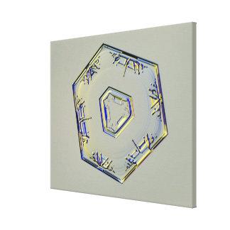 Cristal 2 del copo de nieve lienzo envuelto para galerías