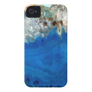 cristal azul iPhone 4 cárcasa