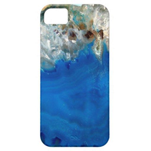 cristal azul funda para iPhone SE/5/5s