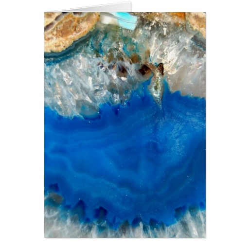 cristal azul tarjeta pequeña