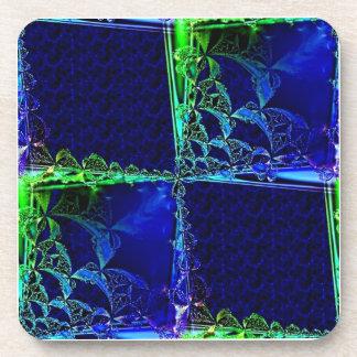 Cristal cósmico posavasos de bebida