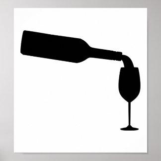 Cristal de botellas de vino impresiones