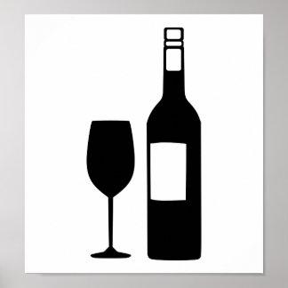 Cristal de botellas de vino posters