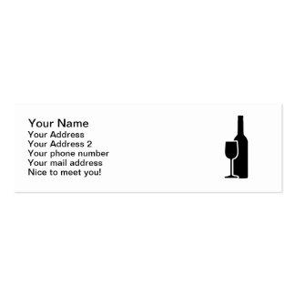 Cristal de botellas de vino plantillas de tarjeta de negocio