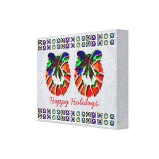 Cristal de colores de HappyHolidays - frontera de  Impresiones En Lona