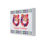 Cristal de colores de HappyHolidays - frontera de  Impresion En Lona