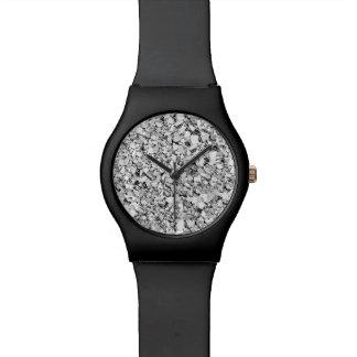 Cristal de Druzy - color oro blanco Relojes De Pulsera