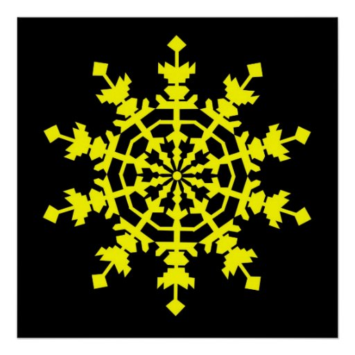 Cristal de hielo - amarillo poster