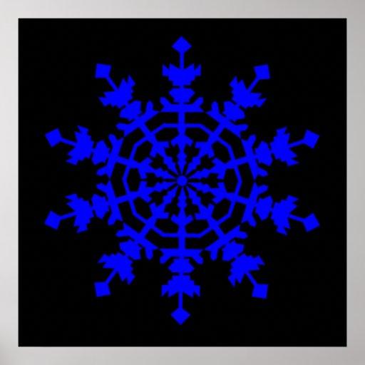 Cristal de hielo - azul impresiones