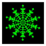 Cristal de hielo - verde poster