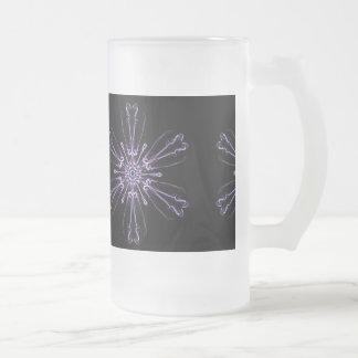 Cristal de la lavanda taza del vidrio esmerilado