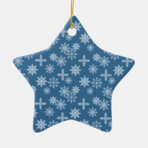 Cristal de la nieve ornamentos de navidad