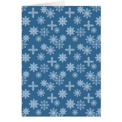 Cristal de la nieve tarjeta de felicitación