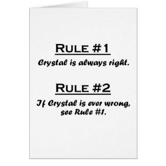 Cristal de la regla tarjeta pequeña