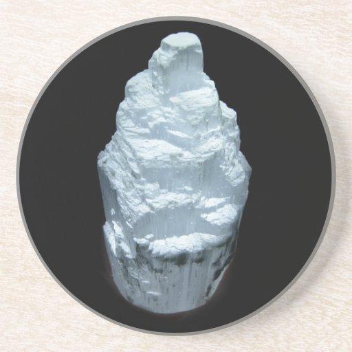 Cristal de la selenita posavaso para bebida