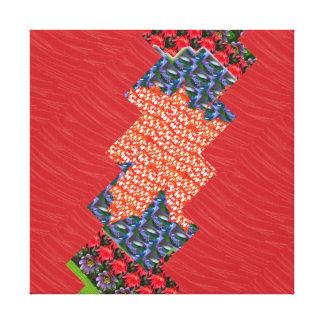 Cristal de oro de la tela de seda roja: Gráficos d Impresión De Lienzo