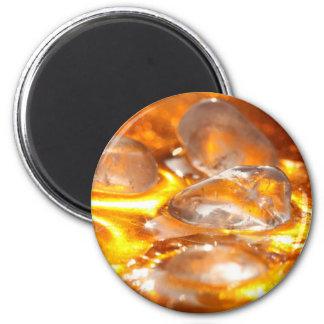 Cristal de roca imán redondo 5 cm