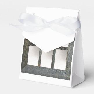 Cristal de ventana envejecido caja para regalos