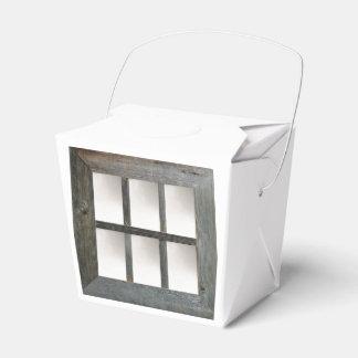 Cristal de ventana envejecido caja para regalos de fiestas
