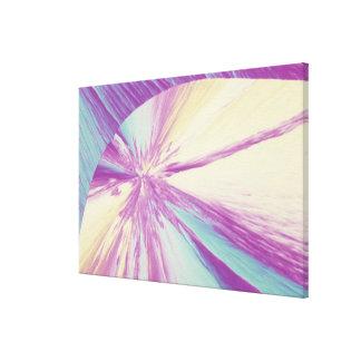 Cristal del colesterol impresión en lona estirada
